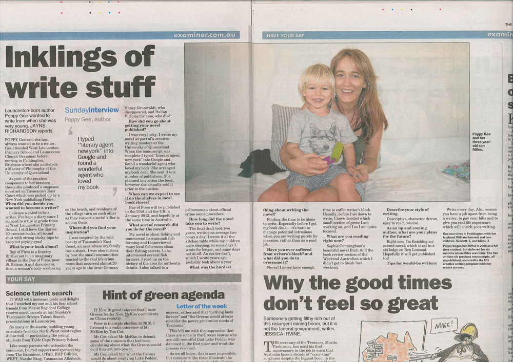 Q&A with the Launceston Examiner, March 2012